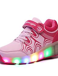 Mädchen-Sneaker-Outddor / Lässig / Sportlich-Leder-Niedriger Absatz-Schieber / Komfort-Schwarz / Blau / Rosa