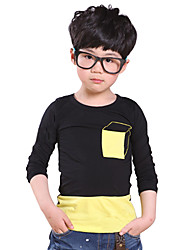 Boy's Cotton Fashion Spring/Fall Casual/Daily Five-pointed Star Print Tees Solid Color Warm Sweatshirt