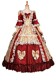 One-Piece/Dress Gothic Lolita / Sweet Lolita / Classic/Traditional Lolita / Punk Lolita Steampunk® Cosplay Lolita Dress Red Floral