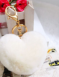 Love Hair Ball Key Ring Fashion Car Pendant