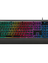 Rapoo gaming keyboard mechanical touch V56  ergonomic multimedia waterproof backlit keyboard USB wired 104keys