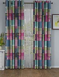 Un Panneau Le traitement de fenêtre Designer , Tartan Salle de séjour Polyester Matériel Rideaux Tentures Décoration d'intérieur For