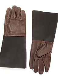 пара защита коровьей кожаные перчатки руки для рептилии хранителем