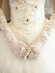 Elbow Length Fingertips Glove Lace Bridal Gloves Spring Summer Fall Winter lace