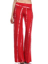 Pantalon Aux femmes Large / Ample / Chino Sexy / simple / Bohème Rayonne Non Elastique