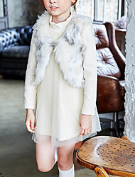 Girl's Casual/Daily Solid VestFaux Fur Winter / Fall Beige
