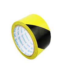(Note d'emballage jaune et noir 2 Taille 2500 cm * 4.8cm) Avertissement bande