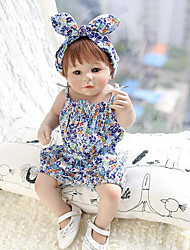 Girl's Casual/Daily Floral Overall & JumpsuitCotton Summer Blue