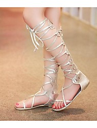 Women's Sandals Summer Comfort PU Casual Flat Heel Others Silver / Gold Others