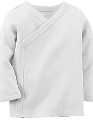 малыш Блуза-На каждый день,Однотонный,Хлопок,Осень-Розовый / Белый / Серый