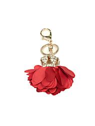 anneau couronne clé de voiture de fleur (note rouge)
