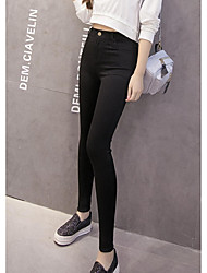 Sign # 305 new washing fabrics tight waist high elastic thin Slim pencil pants bottoming Waichuan