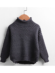 Unisex Casual/Daily Solid Blouse,Cotton Winter / Fall Long Sleeve