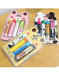 Caneta Caneta Canetas Caneta,Plástico Barril Preto cores de tinta For material escolar Material de escritório Pack of