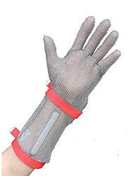 cortar aço inoxidável resistente à malha luvas e três dedo