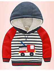 Boy's Casual/Daily Striped Suit & BlazerCotton Winter Blue / Red
