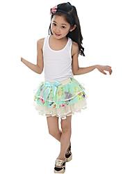 Girl's Going out Print Skirt,Nylon Summer Blue / Red