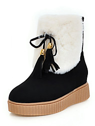 Women's Boots Fall / Winter Platform Fur / Fleece Office & Career / Dress / Casual Platform Fur / Lace-up