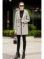 # 1841 European leg of the new fall and winter coats long sections woolen coat wool coat jacket