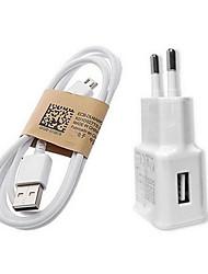 fast Charge Início Charger / Carregador portátil Ficha EU 1 porta USB com cabo para Celular(5V , 1A)
