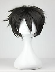 promoção nova arte espada Kiritani em linha preto 32 centímetros curta homem sintética peruca cosplay