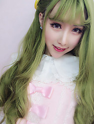 Lolita Wigs Sweet Lolita Lolita Long / Curly Green Lolita Wig 70 CM Cosplay Wigs Solid Wig For Women