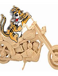 Пазлы Деревянные пазлы Строительные блоки DIY игрушки Автомобиль / Мотоспорт 1 Дерево Со стразами Модели и конструкторы