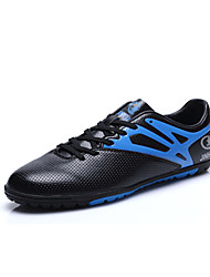Men's Athletic Shoes Spring / Fall Comfort PU Athletic Flat Heel Lace-up Black / Green / Orange Soccer