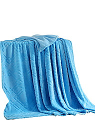 Coral fleece Blue,Solid Solid 100% Polyester Blankets 200x230cm