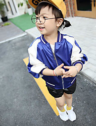 Girl's Casual/Daily Solid Jacket & CoatCotton Spring / Fall Blue / Pink