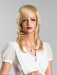 encantador meados de comprimento solto onduladas perucas capless mel de alta qualidade cabelo humano loiro