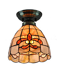 7 inch Retro Tiffany Ceiling Lamp /Shell Shade Flush Mount Living Room  Bedroom Dining Room Kids Room light Fixture