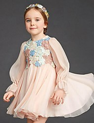 Girl's Casual/Daily Embroidered DressCotton Summer / Spring / Fall Pink
