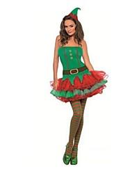 Fantasias de Cosplay Verde Terylene Acessórios de Cosplay Natal / Carnaval