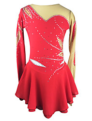 Ice Skating Dress Women's Long Sleeve Skating Skirts & Dresses / Dresses High Elasticity Figure Skating DressBreathable / Low-friction /