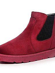 Women's Boots Comfort Fabric Casual Black Gray Burgundy Khaki