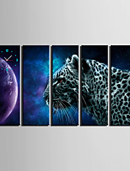 E-HOME® Leopard Clock in Canvas 5pcs
