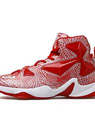 Da uomo-Sneakers-Sportivo-Comoda-Piatto-PU (Poliuretano)-Rosso Nero e oro Nero e rosso