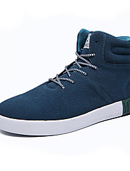 Men's Sneakers Spring Fall Winter Other Fabric Outdoor Casual Flat Heel Lace-up Black Blue Red
