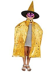 1pc Halloween manteau femme sorcière enchanteur cinq étoiles costume cape manteau partie