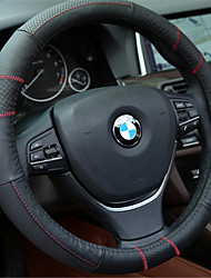 Black Red Line With GM Leather Steering Wheel Cover