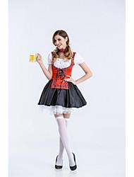 Costumes de Cosplay / Costume de Soirée Tenus de Servante / Fête d'Octobre/Bière Fête / Célébration Déguisement Halloween VertCouleur