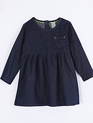 Girl's Casual/Daily Solid Dress,Cotton Fall