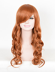 Brown Synthetic Wigs Heat Resistant African American Cosplay Wigs