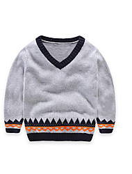 Boy's Casual/Daily Striped Sweater & CardiganCotton Orange / Purple / Gray