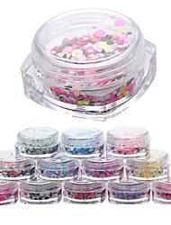12pcs Manucure Dé oration strass Perles Maquillage cosmétique Manucure Design