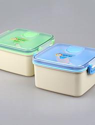 Doppel Schreibtisch wiederverwendbar Mittagessen Container Set Bento-Boxen