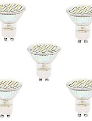 5pcs 48LED SMD2835 GU10/MR16 LED Spotlight Heat-resistant Glass Body LED Bulbs lighting(AC220-240V)