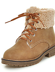 Women's Boots Fall / Winter Platform Fur / Fleece Office & Career / Dress / Casual Platform Fur / Lace-up Brown / Yellow / Gray Others