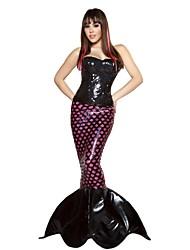 Cosplay Kostüme Party Kostüme Meerjungfrau Märchen Fest/Feiertage Halloween Kostüme Schwarz Patchwork Rock Kleid Halloween Karneval Frau